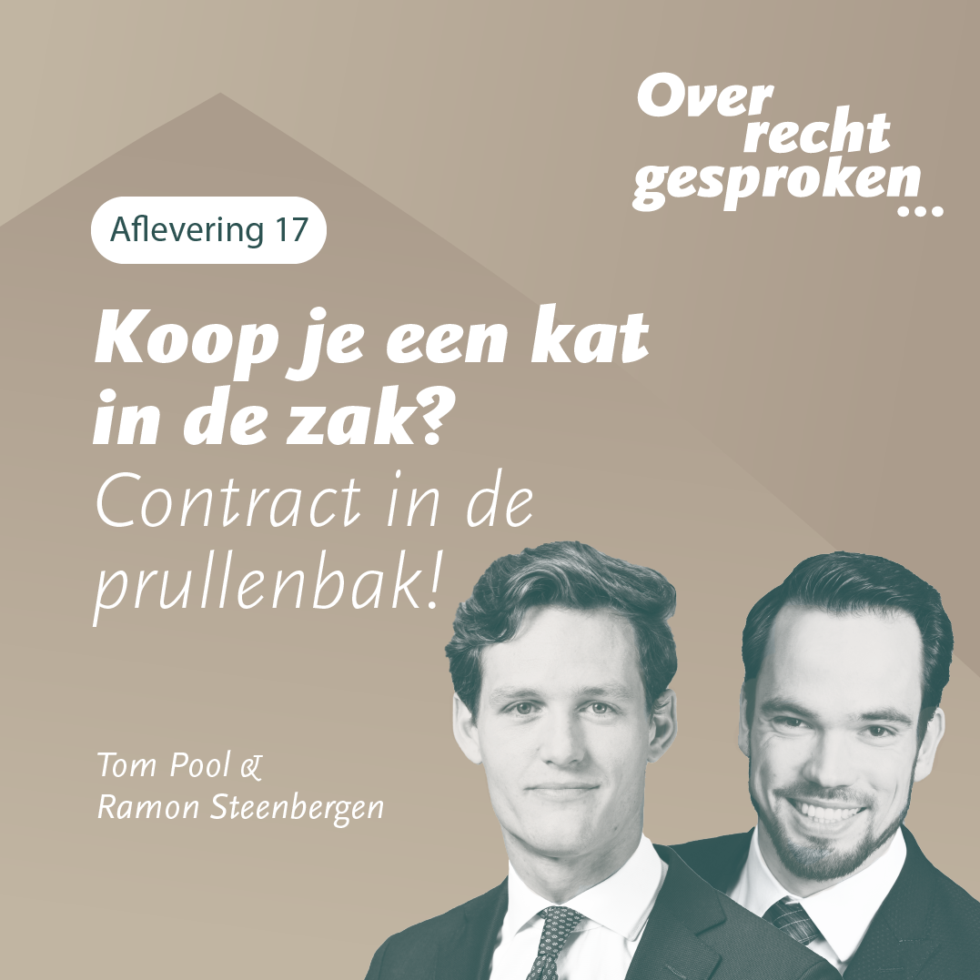 Podcast: Koop je een kat in de zak? Contract in de prullenbak!