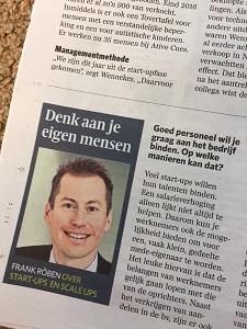 'Denk aan je eigen mensen' - Column Frank Röben in DeOndernemer